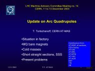 Technical Specifications, CERN Supplied Components and ...