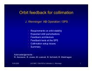 Orbit feedback for collimation - LHC Machine Advisory Committee ...