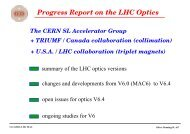 Transparencies of Closed Session talk - LHC Machine Advisory ...