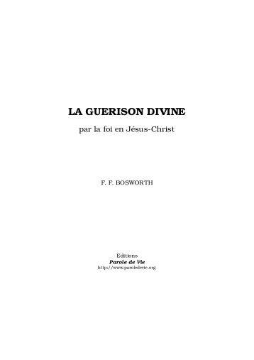 La guérison divine (pdf) - F.F. Bosworth - Croixsens.net