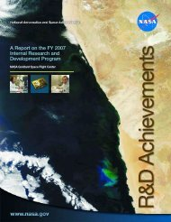 A Report on the FY 2007 I n t e rnal Research and Development Pro ...