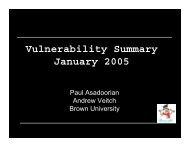 Vulnerability Summary January 2005 - PaulDotCom
