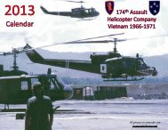 All photos in calendar are Copyright Protected - 174th AHC