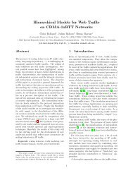 Hierarchical Models for Web Traffic on CDMA-1xRTT Networks - LIP6