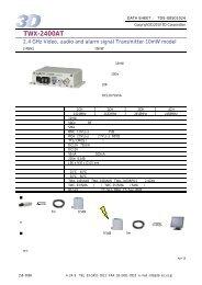 TWX-2400AT - 株式会社スリーディー 3D Corporation