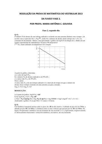 resolução da prova de matemática do vestibular 2013 da fuvest-fase ...