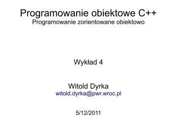 Programowanie obiektowe C++