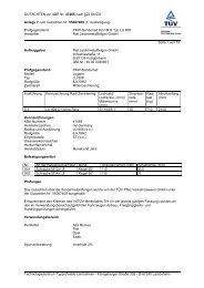 GUTACHTEN zur ABE Nr. 47465 nach §22 StVZO Anlage 7 zum ...