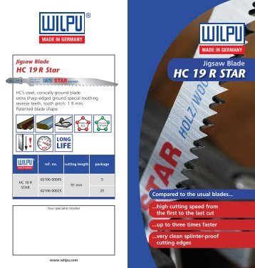 Download Flyer HC 19 R as PDF - Wilpu