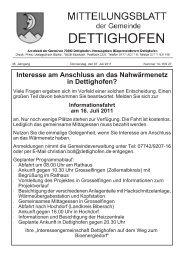 Interesse am Anschluss an das Nahwärmenetz in Dettighofen?