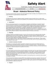 Asbestos removal policy - cfmeu