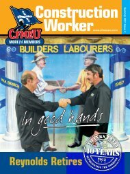 Summer Issue 2011 - Reynolds Retires: Special Edition - cfmeu