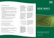 An introduction to 'New Ways' for NHS Staff and Contractors