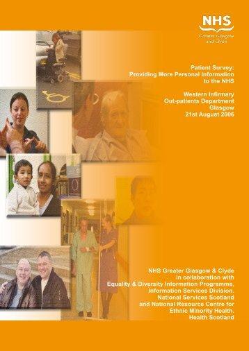 Patient Survey - Information Services Division