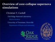 Overview of core‐collapse supernova simulations - Alex Friedland