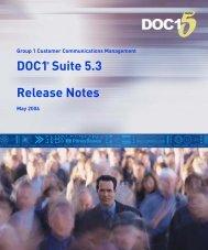 DOC1 Suite 5.3 Release Notes