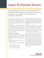 Cognos BI Migration Services