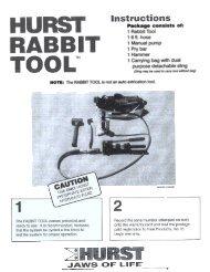 1 Rabbit Tool 16ft. hose 1 Manual pump 1 Pry bar 1 Hammer 1 ...