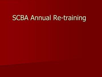 SCBA Annual Retraining