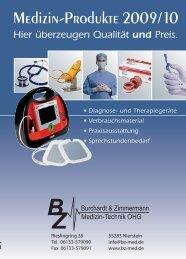 Medizin-Produkte 2009/10 - bei BZ Medizin-Technik