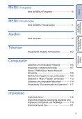 Manual da Cyber-shot - Componentes para Câmeras Digitais? - Page 5