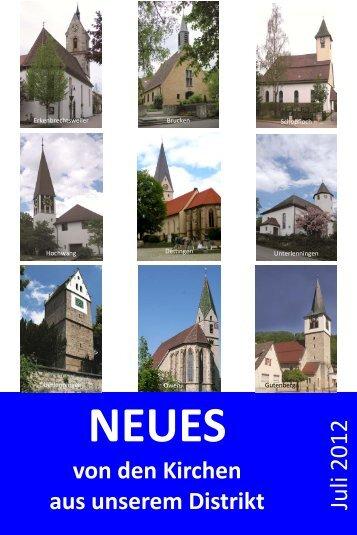 Gottesdienste - Evangelische Kirchengemeinde Unterlenningen