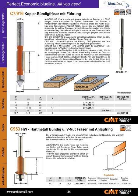 blueline CMT Hersteller PDF Katalog - Sägeblatt Shop