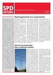 Nachtragshaushalt 2012 verabschiedet 380 kV ... - SPD-Emsland