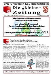 Ausgabe Dezember 2010 - SPD Ortsverein Gau-Bischofsheim