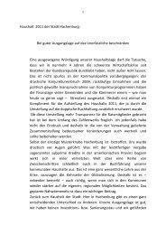 Haushalt 2011 - SPD Ortsverein Hachenburg