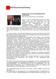 mehr - SPD Ortsverein Hachenburg