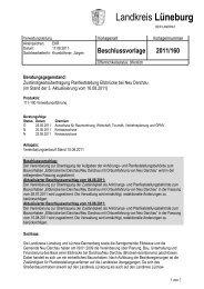 Beschlussvorlage 2011/160 - SPD-Kreistagsfraktion Lüneburg