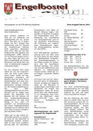 Ausgabe Engelbostel aktuell Sonderausgabe Februar 2013 - SPD ...