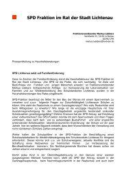 SPD Fraktion im Rat der Stadt Lichtenau - SPD Lichtenau