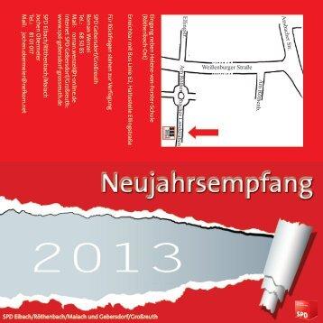 Neujahrsempfang 2013 - SPD Nürnberg
