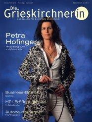 Petra Hofinger - Die Oberösterreicherin