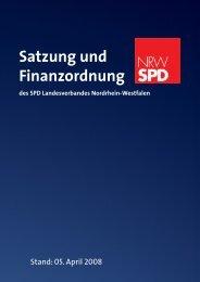Satzung Landesverband Nordrhein-Westfalen - SPD-Unterbezirk ...