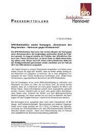 10-09-17 Kampagne gegen Kinderarmut - SPD-Ratsfraktion Hannover