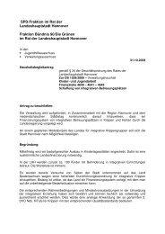 Schaffung von integrativen Betreuungsplätzen - SPD-Ratsfraktion ...