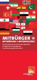 MITBÜRGER = MITWÄHLEN + MITGESTALTEN! - SPD-Ratsfraktion ...