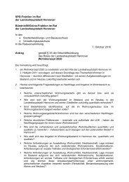 Wohnkonzept 2020 - SPD-Ratsfraktion Hannover