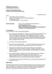 Änderungsantrag zur DS1388/2010 N1 - SPD-Ratsfraktion Hannover