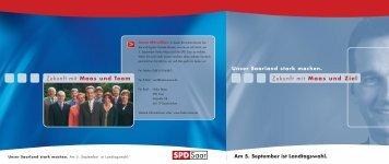 Zukunft mit Maas und Team Zukunft mit Maas und Ziel - SPD Saar