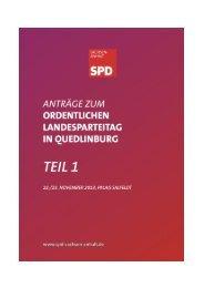 Antragsbuch Teil 1 - SPD-Landesverband Sachsen-Anhalt