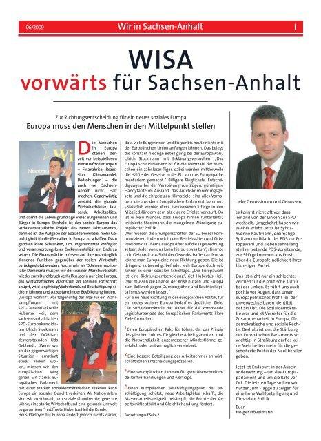 WISA - SPD-Landesverband Sachsen-Anhalt