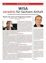 vorwärts für Sachsen-Anhalt - SPD-Landesverband Sachsen-Anhalt