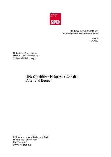 Altes und Neues - SPD-Landesverband Sachsen-Anhalt