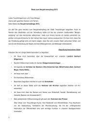Rede vom Neujahresempfang am 06.01.2013 - SPD-Treuchtlingen
