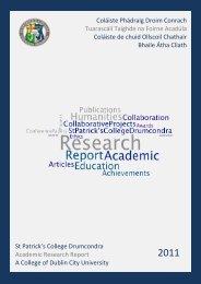 St Patrick's College Drumcondra Academic Research Report