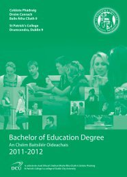 Bachelor of Education Degree 2011-2012 - St. Patrick's College - DCU